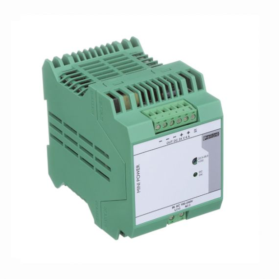 POWER SUPPLY 100-240VAC/24VDC 4A PHOENIX CONTACT