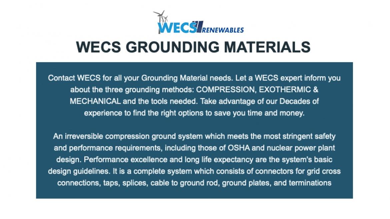 Grounding Material