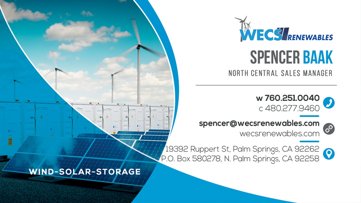NEW WECS North Central Sales Manager - Spencer Baak