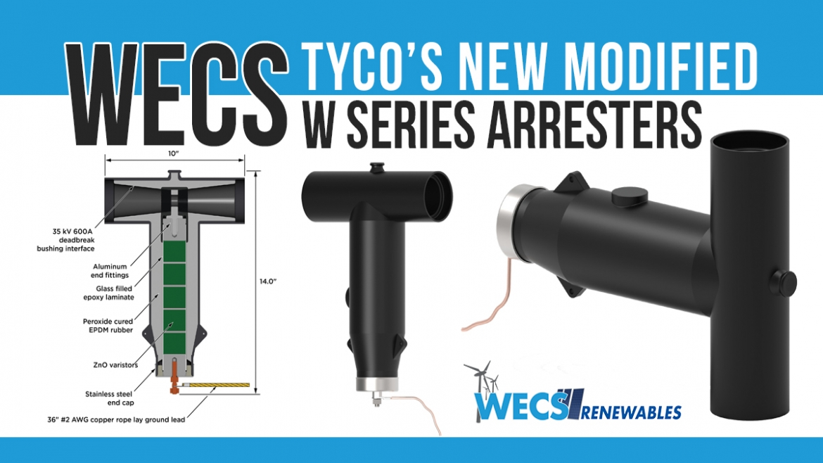"""WECS Has In Stock Tyco's New Modified """"W"""" Series Arresters"""