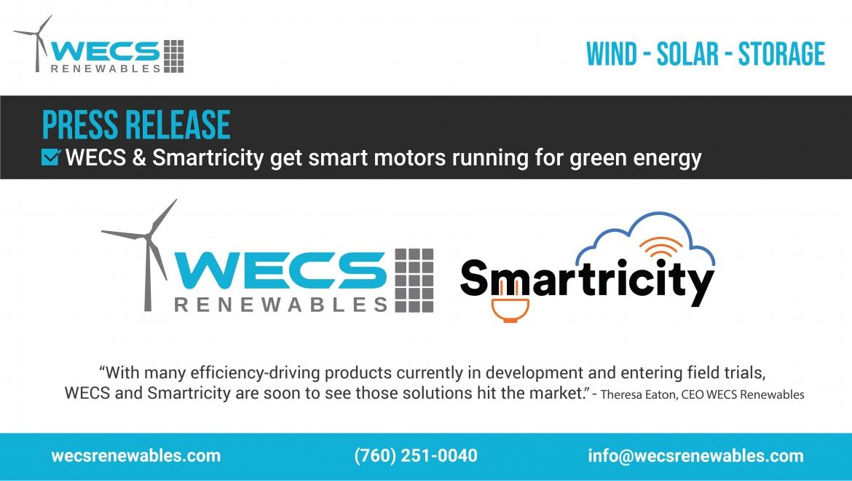 WECS Renewables & Smartricity get smart motors running for green energy