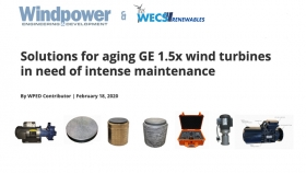 Solutions for aging GE 1.5x wind turbines in need of intense maintenance