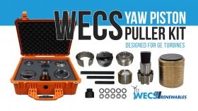 GE wind turbine seized yaw brake piston puller tool kit